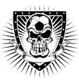 soccer skull shield vector image