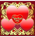 Valentines Ornamental Card vector image