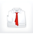 White Dress shirt vector image