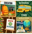 School Education Compositions vector image