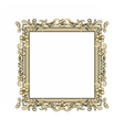 Gold frame decorated with golden roses vector image