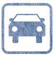 car fabric textured icon vector image