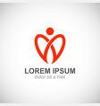 love valentine heart logo vector image