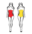 sexy woman silhouettes vector image