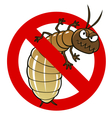 anti termite sign vector image vector image