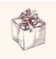 Vintage gift box vector image