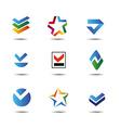 Logos set vector image