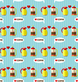 coffee maker and coffee jug seamless pattern vector image