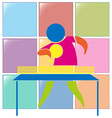 Table tennis icon in colors vector image