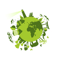 Animals and attractions on the planet vector image
