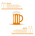 beer glass simple color infographics theme eps10 vector image