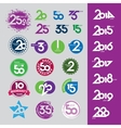 collection of icons with numbers vector image