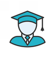 Graduate Outline Icon vector image