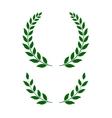 green laurel wreaths - vector image