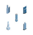 isometric building set of apartment building vector image