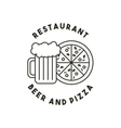 beer and pizza restaurant menu vector image