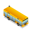 isometric yellow bus vector image