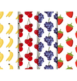 Set of seamless pattern with fruit vector image