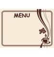 menu form vector image