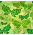 Spring green seamless pattern vector image
