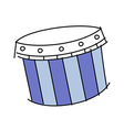 icon drum vector image