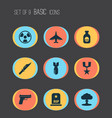 warfare icons set collection of weapons rip vector image