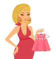 Mom-to-be expecting baby girl vector image vector image