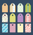 stylish clothes price tag with art pattern sale vector image