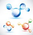 abstract molecule shape vector image vector image