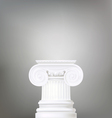 architectural background  ionic column  d vector image
