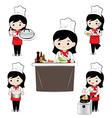 Little girl chef vector image