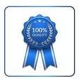 Ribbon award icon blue 3 vector image