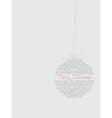 Merry Christmas ball vector image vector image