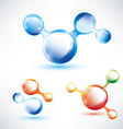 abstract molecule shape vector image
