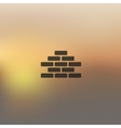 brickwork icon on blurred background vector image