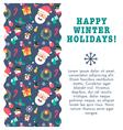 Christmas Card Wave vector image