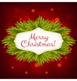 Christmas red shiny background vector image