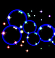 circle with light and star vector image