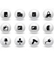 Glossy grey buttons vector image