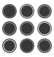 Gray Labels Temlates vector image