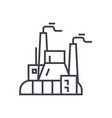 industrial factory power plant linear icon sign vector image