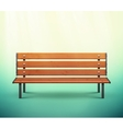 Isolated Bench vector image