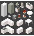 isometric kitchen set vector image