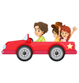 Kids and a car vector image