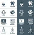 Set of Logo Templates Positive and Negative vector image