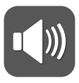 The speaker icon Sound symbol Flat vector image
