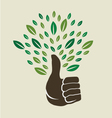 Thumb tree vector image