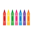 Wax colorful crayons vector image