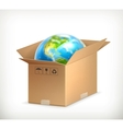 World in box vector image