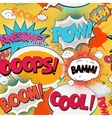 Comic Book Bubble Text vector image